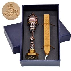 Christmas Candle Light Wax Stamp with Sealing Wax Wicked Stick in Gold Color
