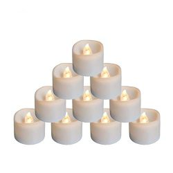 Youngerbaby 24pcs Warm White Flickering Tea Light Candles Free 100 Fake Rose Petals, Flameless L ...