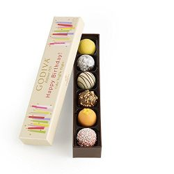 Godiva Chocolatier Happy Birthday Cake Chocolate Truffle Flight, Great for any gift, Birthday Gi ...