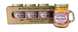 Our Own Candle Company Orange Creamsicle Scented Mini Mason Jar Candle by, 3.5 Ounce (4 Pack)