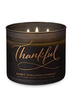 Bath & Body Works 3-Wick Scented Candle in Thankful Sweet Cinnamon Pumpkin