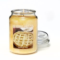 Candlelite Revere House Scented Apple Pie Single Wick 23oz Large Glass Jar Candle, Food Spice Go ...