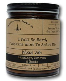 Malicious Women Candle Co – I Fall So Hard, Pumpkins Want to Spice Me, Pumpkin Spice Latte ...