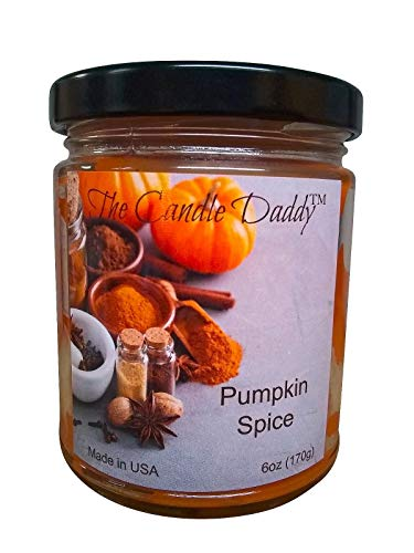 Pumpkin Spice Scented Candle – 6 oz jar Candle – up to 40 Hour Burn – Poured i ...