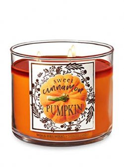 Bath & Body Works 3 Wick Sweet Cinnamon Pumpkin Candle