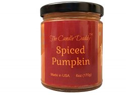 Spiced Pumpkin Spice Scented Candle – 6 oz jar Candle – up to 40 Hour Burn – P ...