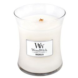 Magnolia WoodWick 10 oz Medium Hourglass Jar Candle Burns 100 Hours