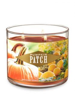 Bath and Body Works 3-Wick Scented Candle Pumpkin Patch 14.5 Ounce