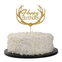 Sunny ZX Happy Birthday Cake Topper Twinkle DIY Glitter First Birthday Cupcake Topper Cake Smash ...