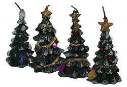 wanture Decorative Candles Christmas Trees Irregular Shape Fashion Tree
