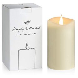 FLAMELESS CANDLES with Realistic Flickering Flame – Authentic Candle Light for a Relaxing, ...