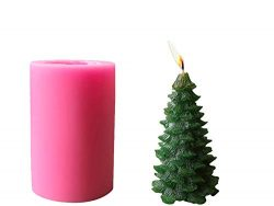 Homankit Silicone Christmas Pine Tree Candle Molds/Soap Molds/Baking Molds, Ideal Moulds for DIY ...