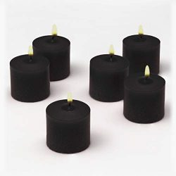 Black Votive Candles Bulk Unscented Box of 72 Decorations for Dinner Wedding Halloween Holiday P ...