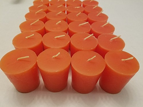 Old Candle Barn 24-Piece Votive Candles – Pumpkin Spice Scented 15 Hour – Perfect Fa ...
