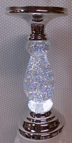 Bath and Body Works Three Wick Candle Holder Approx 12″, LED Uses Batteries, Bright Moving ...