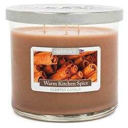 Warm Kitchen Spice Scented Large 3 Wick Candle