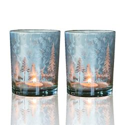 lEPECQ Christmas Votive Candle Holder, Christmas Tealight Candle Holder 3.14″ H – Pa ...
