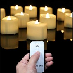 Flameless Candles with Remote Control, Flickering LED Tea Light Battery Operated Realistic Unsce ...
