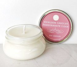 Pomegranate Cider Scented Soy Candle – Seasonal Holiday Christmas Candle, 3.3oz