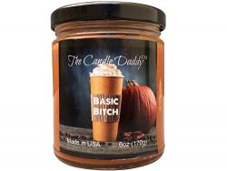 Pumpkin Spice Candle – Fun and Funny -6 Ounce- 40 Hour Burn – Basic Bitch- Poured in ...