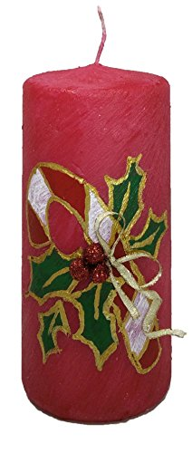 Christmas Made in America – handmade, Christmas Candle, Decorative Pillar Candle – C ...