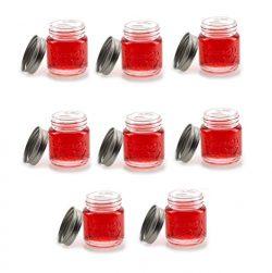 Mason Jar Shot Glasses with Lids (Set of 8) – Mason Jar 2 Ounce Shot Glasses w/Leak-Proof Lids & ...