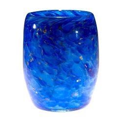 "Votive Candle Holder. Hand Blown Art Glass in Lapis Blue.""Belltown Blues Votive"". Ma ..."