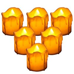 CNAMOY Flameless LED Tea Light Candles (24 Packs), Long-Lasting Working Hours Battery-Operated L ...
