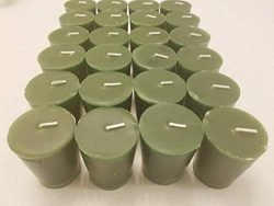 Old Candle Barn 24-Piece Votive Candles – Balsam Fir Scented 15 Hour – Perfect Green ...