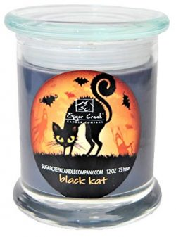 Sugar Creek | Black Licorice Soy Scented Candle (Black Cat) – Halloween Candles Collection ...