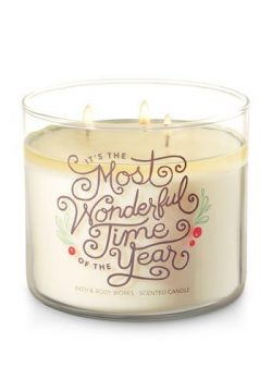 Bath and Body Works White Barn 3 Wick Candle Fresh Balsam It's The Most Wonderful Time Of  ...