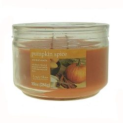 Langley Home 2 Wick Pumpkin Spice Scented Jar Candle 10 oz