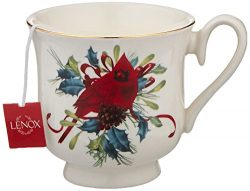 Lenox Winter Greetings Teacup Candle, Pine