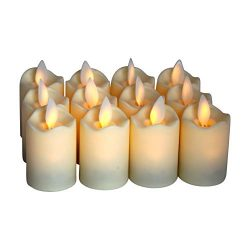 Flameless Candles – LED Votive Tea Lights – Flickering Dancing Flame – Battery ...