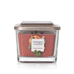 Yankee Candle Company Elevation Collection with Platform Lid, Medium 3-Wick Square, Ginger Pumpkin