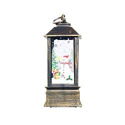 Aland Santa Claus Deer Windproof LED Candle Holder Christmas Candlestick Home Decor Christmas De ...