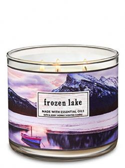 Bath and Body Works Frozen Lake Scented 3 Wick Candle 14.5 oz Winter 2018