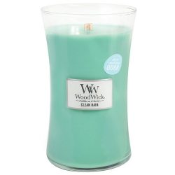 Clean Rain WoodWick Odor Neutralizing 21.5 ounce Scented Jar Candle
