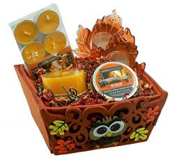 Combined Brands Cracklin' Fire Scented Candles Gift Set: Tealight Pillar Mason Jar Scented ...