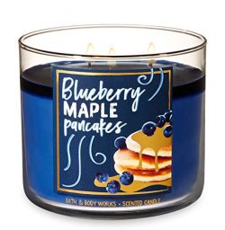 Bath and Body Works Blueberry Maple Pancakes Candle – Large 14.5 Ounce 3-wick Limited Edit ...