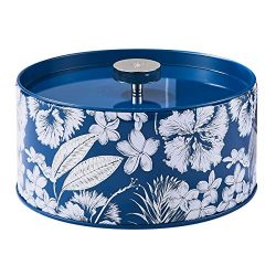 LA JOLIE MUSE Large Scented Candle Gift 14OZ, 3-Wick Candle Blue Tin Natural Soy Wax, Crispy Cotton