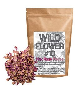 Dried Pink Roses Pieces, 100% Natural Dried Rose Flowers For Homemade Tea Blends, Potpourri, Bat ...