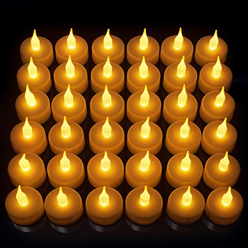 36 Pack Led Tea Light Candles Gorgeous Flickering