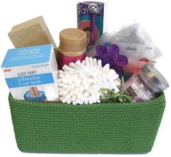 Basket For Mothers Day With Blow Up Foot Pool, gifts and more