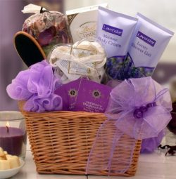 A Field of Lavender Spa and Chocolates Gift Basket – Makes a Perfect Gift for Mothers Day, ...