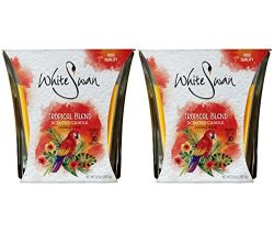 White Swan Scented Candles, Tropical Blend 10 oz (2 PACK)