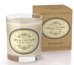 Naturally European Milk Cotton Luxury Candle 200g