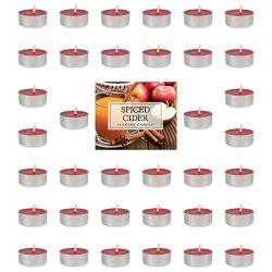 DII Highly Scented Tealight Candle, 1.5″ x 0.63″, Spiced Cider