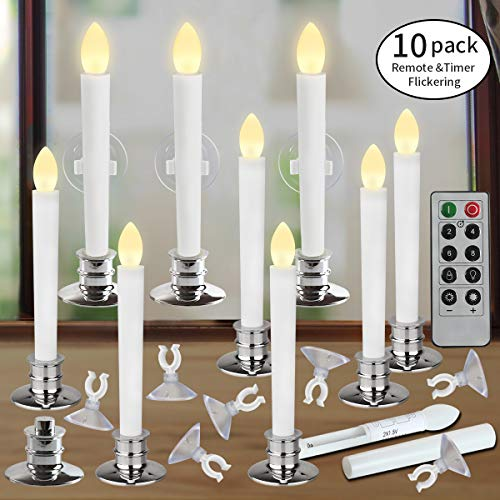 Window Candles with Remote Timers Battery Operated Flickering Flameless Led Electric Candle Ligh ...