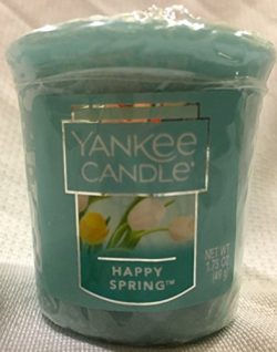 3 Yankee Candle 2017 HAPPY SPRING Sampler Votive Candles 1.75 oz Each